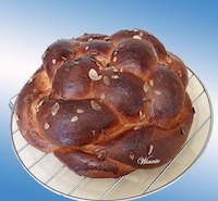 Enriched eggs&amp;grains Challah