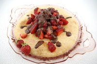 Sweet Focaccia with Berries &amp; Chocolate