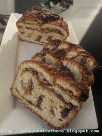 Krantz cake with praline and chocolate filling