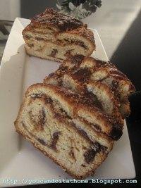 Krantz cake with praline and chocolate filling