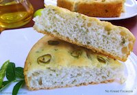 No Knead Focaccia