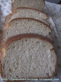 Soft White Sandwich Bread with soy flour