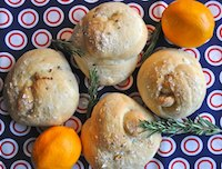 Rosemary-Lemon Knot Rolls