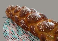 Rich challah, made with plain+whole+rye wheat