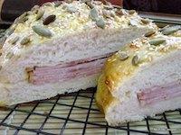 Focaccia Ham Sandwich