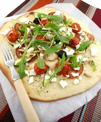 Springtime Vegetable Pizza Bianca
