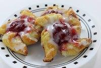 Strawberry danish pinwheels