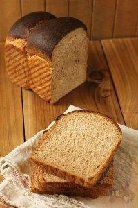 Sourdough 100% whole wheat hokkaido milk loaf