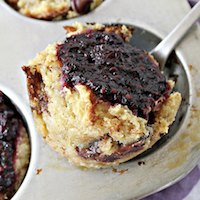 Blackberry Lime Bread Pudding