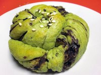 'Brownied' Matcha Brioche (low fat& vegan)
