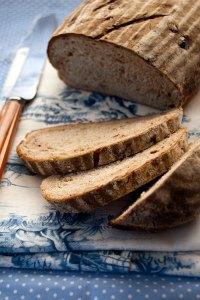 Orange date and walnut rye bread