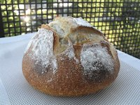 White beer, fennel seeds and rosemary sourdough