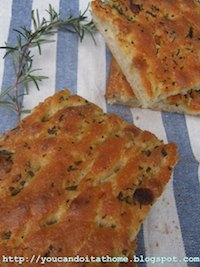 Focaccia with herb oil