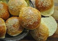 Easy Sesame Hamburger Buns