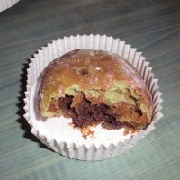 Almost Fatfree Wholemeal Matcha-Choco buns