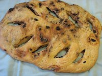 Fougasse with Olives, Rosemary and Orange
