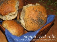 poppy seed rolls baked on the barbecue