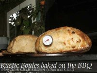 Rustic Boules baked on the Barbecue