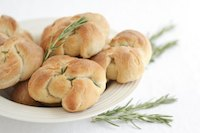 Rosemary bread knots