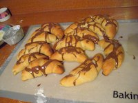 Peanut Butter & Chocolate Crescents