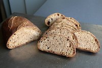 50 percent Whole-Wheat Levain with Wheat Germ