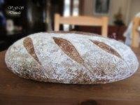 Sourdough bread, rye and wheat bran