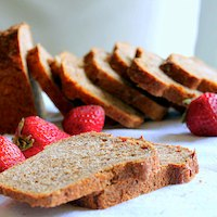 Strawberry Mango Wheat & Quinoa Mini Loaf