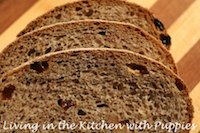Sourdough Rye with Raisins and Walnuts