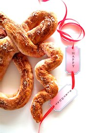 Zesty Rose Pretzels