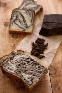 sourdough chocolate marble loaf