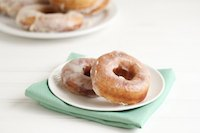 Soft and fluffy glazed donuts