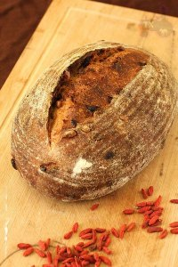 light rye with goji berries and pine nuts