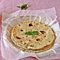 Sourdough Mint Paratha / flatbread