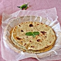Sourdough Mint Paratha / flatbread