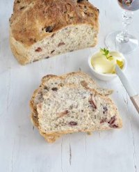 Cyprian Bread with Olives and Corriander