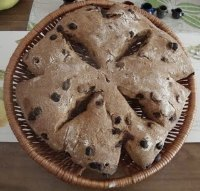 KAMUT Sourdough Fougasse with Raisins