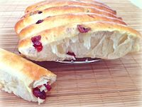 Cranberries Cream Cheese Bread