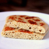 Glutenfree And Vegan Naan Flat Bread.