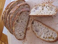 Rustic Bread With Raisin Yeast Water