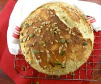 Peasant Boule With Parmesan And Seeds