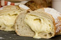 White Bread Filled With Camembert