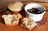 Oat Bran Sourdough Muffins