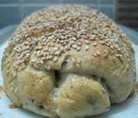 Black Olive And Marjoram Semolina Bread