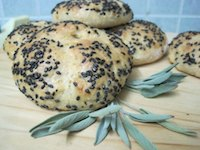 Sage, Garlic, Potato And Cheddar Kaiser Rolls