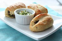 Pretzels Stuffed With Mushrooms And Green Beans