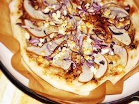 Pear, Blue Cheese And Red Onion Pizza