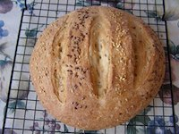 Floating Flax Seed Loaf