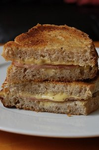 Pepper Gruyere And Ham Croque Monsier