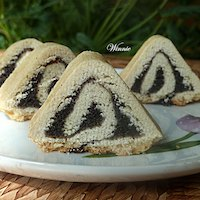 Triangular Yeast-Shortbread Rouldade