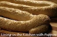 Savoury Sesame Bread Rings